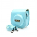 KEEP design Fujifilm Instax Mini 8 Lens Leather Case Camera bag mini8 (Blue)